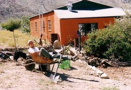 Jann, the Gardener from Switzerland, after a day at work in the dirt