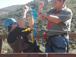 Getting ready for the Koo Zip Slide at Karoo Adventure – by Glenda