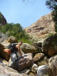 Gecko Trail - the boulder ascent