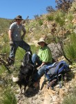 Lorna and Mike helping with trail maintenance