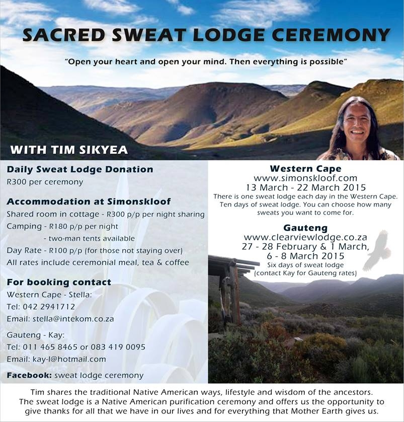 Sweat Lodge March 2015 - FLYER