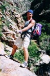 Nuy River Gorge - final abseil