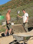 Local Graham and French Thoma sifting sand