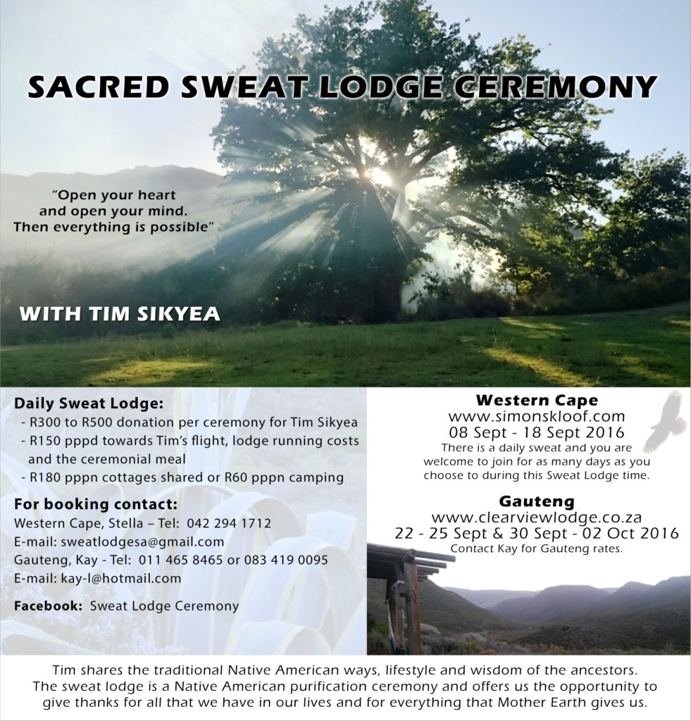 SWEAT LODGE POSTER Sept 2016